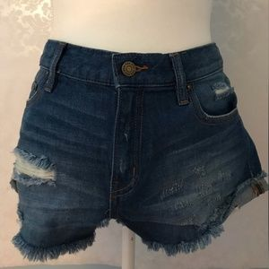 BDG Boyfriend Low-Rise Distressed Denim Short